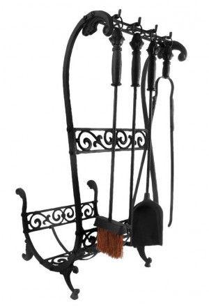Haardset zwart Esschert Design